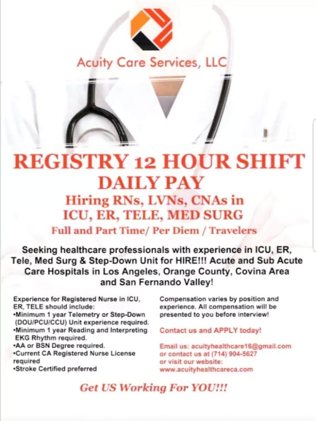 Acuity Care Services LLC Job